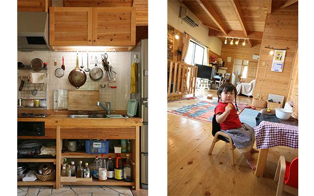 動きやすさ、生活の流れを考えて 家具まで造ることも