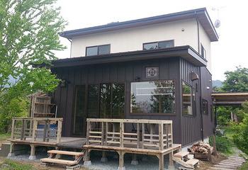 成長する木のお家です ウッドデッキ(熊本 南阿蘇村) 薪ストーブサムネイル