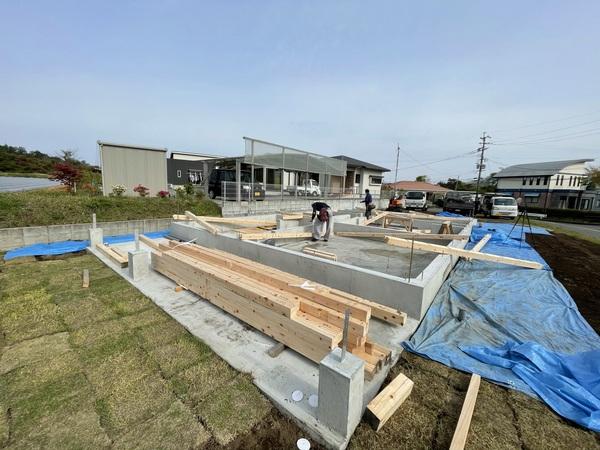 西原の家 熊本の木・自然素材家 11日日曜日上棟です!!餅投げを行いますのでお待ちしております!! サムネイル
